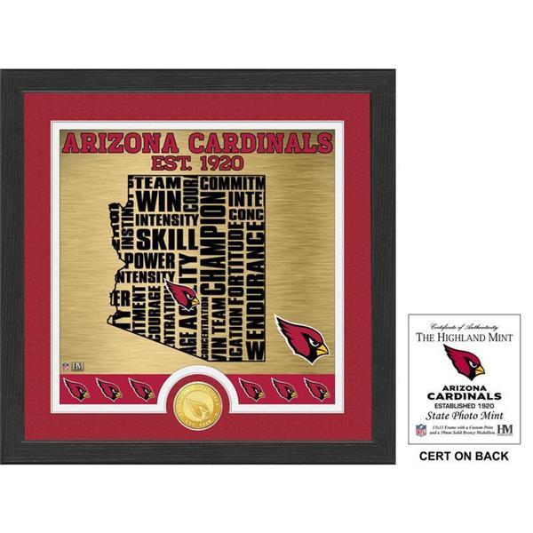 "Arizona Cardinals ""State"" Bronze Coin Photo Mint"