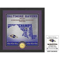 "Baltimore Ravens ""State"" Bronze Coin Photo Mint"