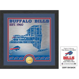 "Buffalo Bills ""State"" Bronze Coin Photo Mint"