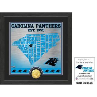 """Carolina Panthers """"State"""" Bronze Coin Photo Mint - Multi-color"""