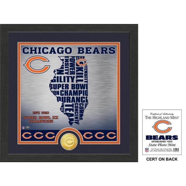 """Chicago Bears """"State"""" Bronze Coin Photo Mint"""