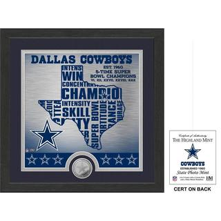 "Dallas Cowboys ""State"" Minted Coin Photo Mint - Multi-color"