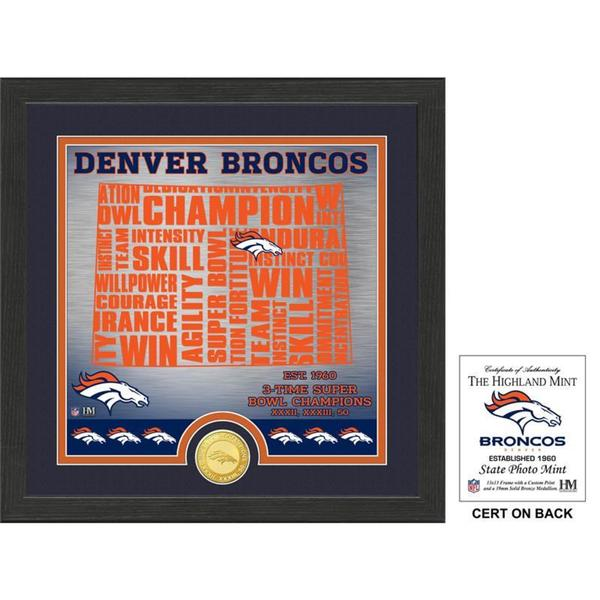 "Denver Broncos ""State"" Bronze Coin Photo Mint"