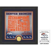 "Denver Broncos ""State"" Bronze Coin Photo Mint"