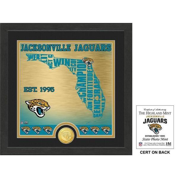 "Jacksonville Jaguars ""State"" Bronze Coin Photo Mint"