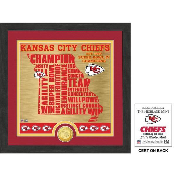 "Kansas City Chiefs ""State"" Bronze Coin Photo Mint"