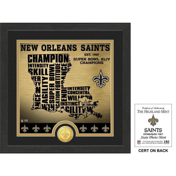 """New Orleans Saints """"State"""" Bronze Coin Photo Mint"""