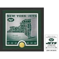 "New York Jets ""State"" Bronze Coin Photo Mint"