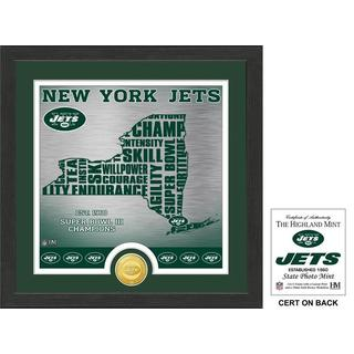 "New York Jets ""State"" Bronze Coin Photo Mint - Multi-color"