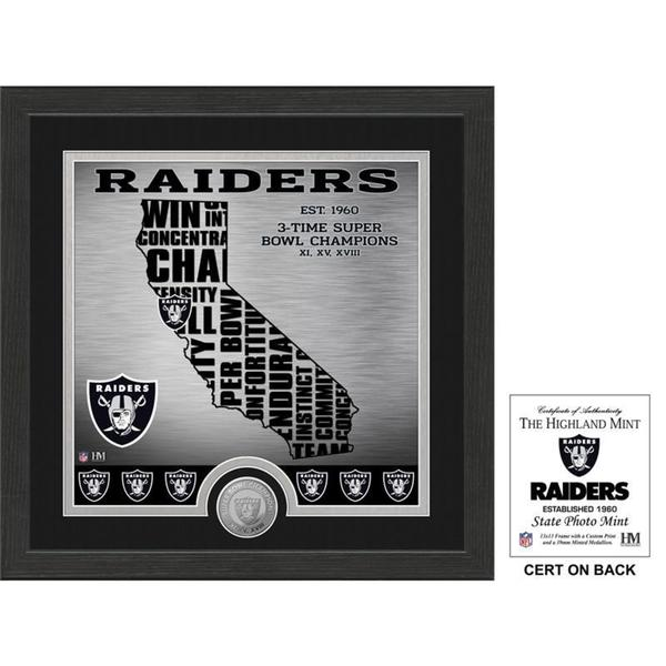 """Oakland Raiders """"State"""" Minted Coin Photo Mint"""