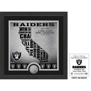 "Oakland Raiders ""State"" Minted Coin Photo Mint"