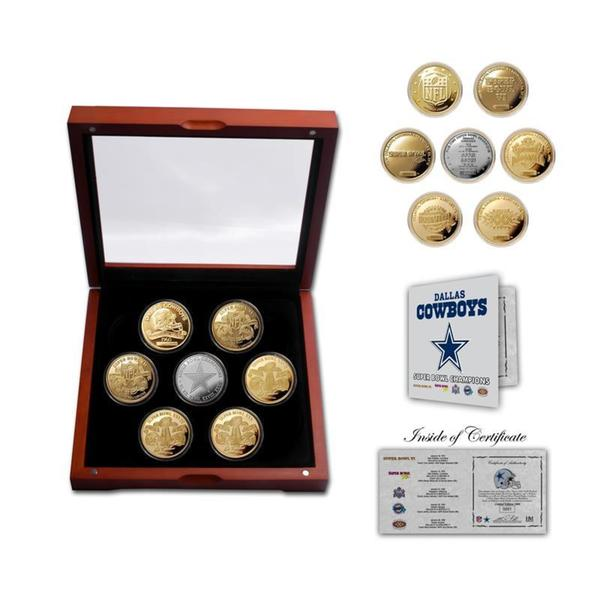 Dallas Cowboys 5-Time Super Bowl Champions 5 Coin Gold and Silver Coin Set