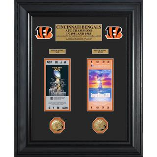 Cincinnati Bengals Super Bowl Ticket and Game Coin Collection Framed - Multi-color