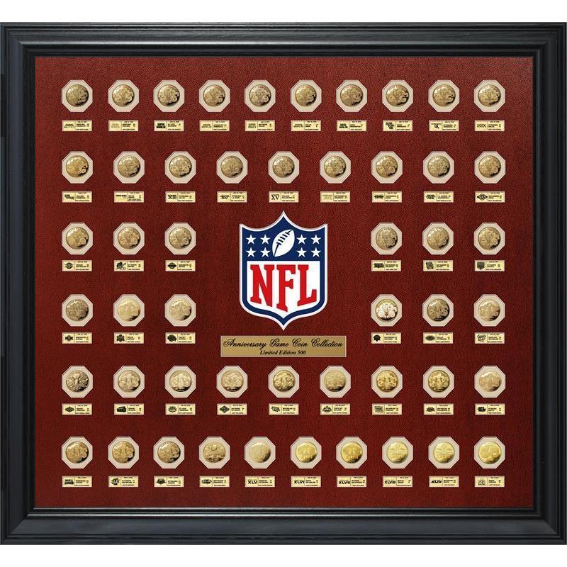 Highland Mint Super Bowl Flip Gold Coin Collection Frame ...