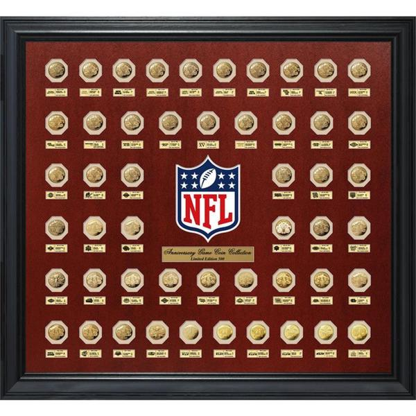 Super Bowl Flip Gold Coin Collection Frame