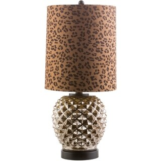 Akio Table Lamp with Painted Glass Base