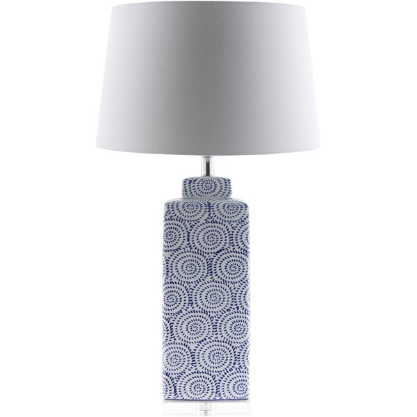 Amita Table Lamp with Glazed Ceramic Base