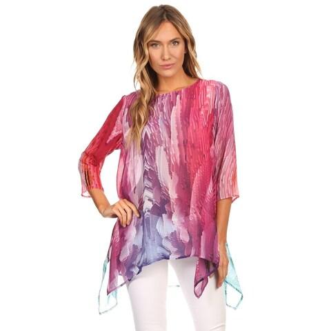 High Secret Women's Abstract Print Multicolor Tunic