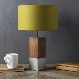 Anger Natural Finish Wood Base Table Lamp 3 Options Available