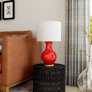 Ballina Table Lamp with Glazed MDF Base