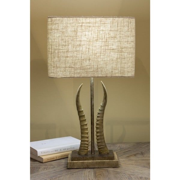 Bostwick Table Lamp with Antique Resin Base