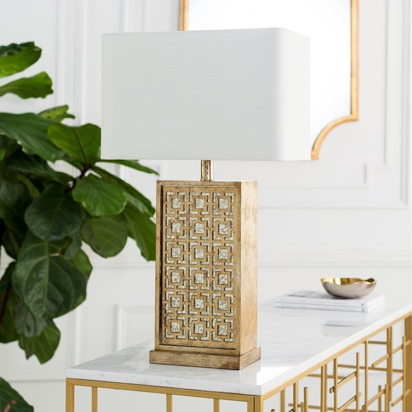 Brunoy Table Lamp with Antiqued Base