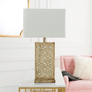Brunoy Table Lamp with Antique MDF Base