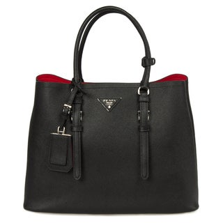 Prada Saffiano Double Handle Leather Bag 1BG820 F0002