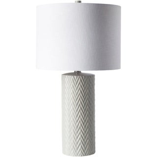 Carcassonne Table Lamp with Glazed Ceramic Base