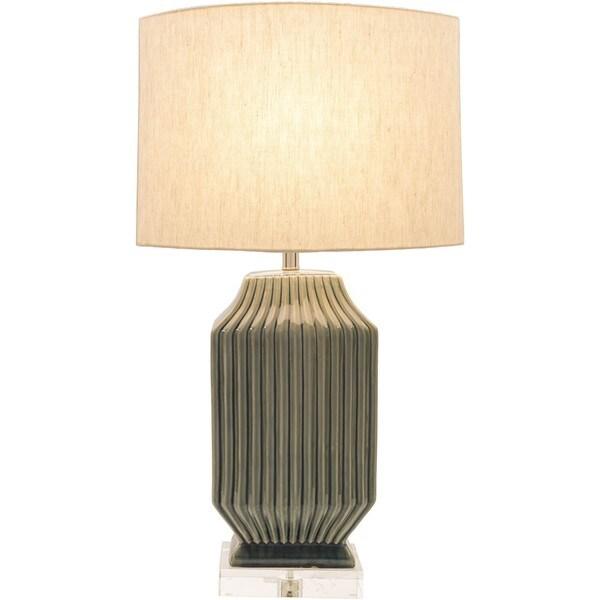 Charleston Table Lamp with Glazed Ceramic Base