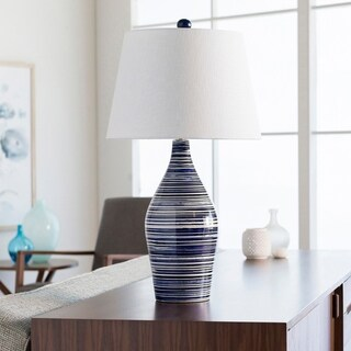 Cooke Classic Blue & White Striped Table Lamp