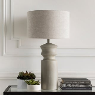 Crowland Table Lamp with Painted Resin Base