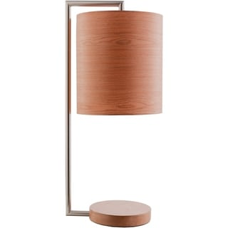 Dane Table Lamp with Nickel Finish Bamboo Base