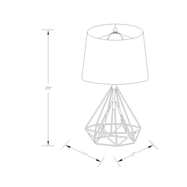 Shop Denain Modern Table Lamp With Painted Iron Base