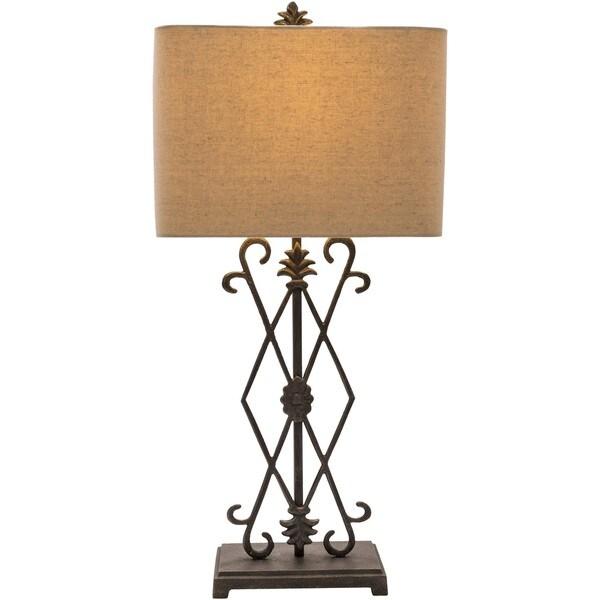 Dreketi Table Lamp with Painted Iron Base