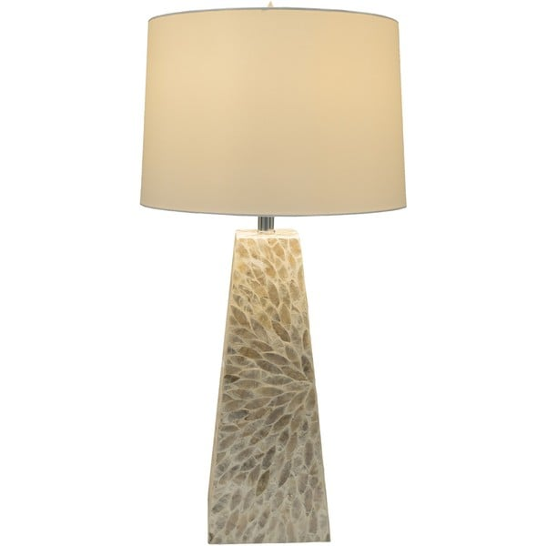 Eilat Table Lamp with Shell Finish MDF Base