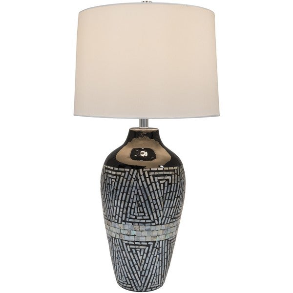 Everly Table Lamp with Mother of Pearl Finish Bamboo Base