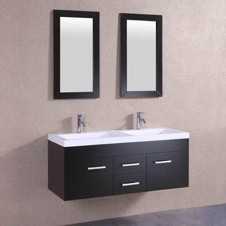 Belvedere Modern Espresso Double Sink Vanity