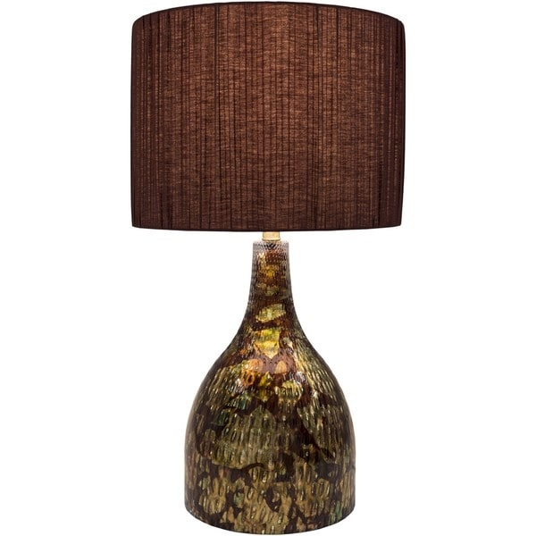 Gail Table Lamp with Painted Glass Base