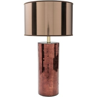 Getafe Table Lamp with Copper Finish Ceramic Base