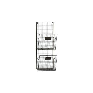 Metal 10-inch Wide x 27-inch High 2-tier Wall Pocket