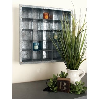 Grey Metal Assembled Wall Storage (20-inch x 20-inch)