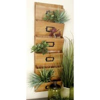 Black/Brown Wood 36-inches High x 12-inches Wide Wall Letter Holder
