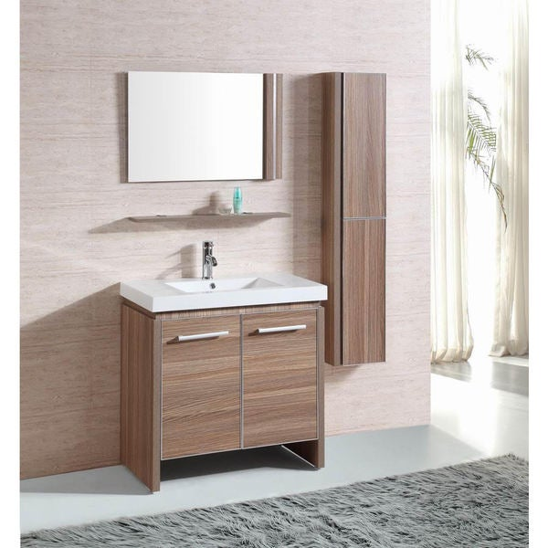 Bathroom Vanity Lighting Concept For Modern Houses: Shop Belvedere Modern Light Oak Single Sink Bathroom