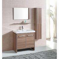 Belvedere Modern Light Oak Single Sink Bathroom Vanity