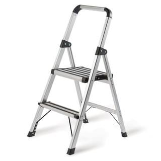 Brushed Aluminum Ultra Light 2-Step Ladder