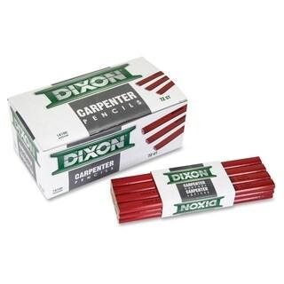 Dixon Economy Flat Carpenter Pencils - Red (12/Dozen)