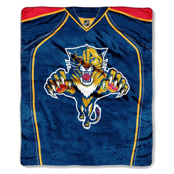 NHL 670 FL Panthers Jersey Raschel Throw