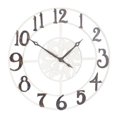 Household Essentials Large Numbers Wall Clock