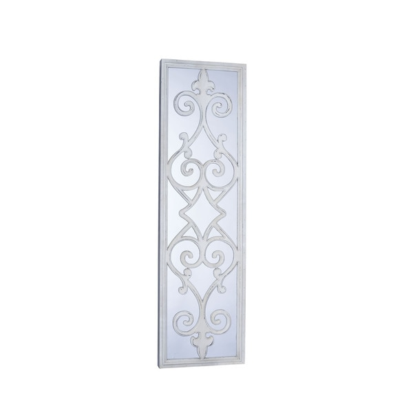 Household essentials white framed decorative scroll wall for White framed decorative mirror